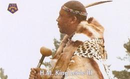 *LESOTHO* -  Scheda A Chip Usata - Lesoto
