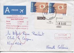 REF881/ TP 3245 (2) Journée TP + Vignette Guichet Lierneux 2/4/04 > Nouvelle Calédonie C.adresse Insuffisante&Retour - Belgien