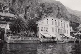 LIMONE-BRESCIA-LAGO DI GARDA-HOTEL=LE PALME=CARTOLINA VERA FOTOGRAFIA VIAGGIATA IL 1-10-1955 - Brescia