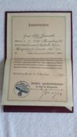 Facharbeiterbrief Königsberg Pr.  Ind. U.Handelskammer Ost U. Westpreußen Maschinenschlosser 1939 Brief Arbeiter Stempel - 1939-45