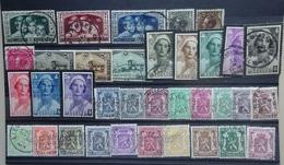 BELGIE  1934-35    Nr. 401-03 / 404 -06 / 407-09 / 411-18 / 418A-26  (2)  Gestempeld   CW 23,00 - Gebruikt