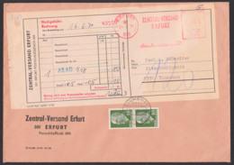 Erfurt Nachgebühr-Sendung Vom Zentral-Versand, AFS -005- Und 60 Pf. (2) Walter Ulbricht Für Gebühr Blumenau 1971 - Covers