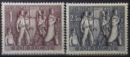 PORTUGAL N° 750 à 751 COTE 12 € NEUFS * MH 25ème ANNIVERSAIRE DE LA REVOLUTION NATIONALE EN 1951 - Ungebraucht