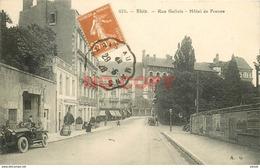 SL 41 BLOIS. Voiture Ancienne Devant Garage De L'Hôtel De France Rue Gallois 1928 - Blois