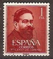 ESPAÑA SEGUNDO USADO Nº 1321 (0) 1P NARANJA OSCURO ALBENIZ - 1931-Aujourd'hui: II. République - ....Juan Carlos I