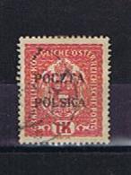 Polen, Michel-Nr. 43 Gestempelt, Used, Rückseitig Mehrere Signaturen / See Signatures On Back - ....-1919 Übergangsregierung