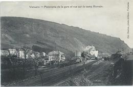 Vielsalm - Panorama De La Gare Et Vue Sur Le Camp Romain (ca. 1912) - Vielsalm