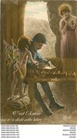 WW Guerre Militaires Poilus Soldats Patriotiques. La Lettre Et L'Angelot 1916 - War 1914-18