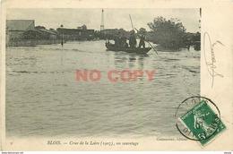 SL 41 BLOIS. Un Sauvetage En Barque Pendant La Crue De La Loire En 1907 - Blois
