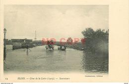 SL 41 BLOIS. Crue De La Loire 1907 Sauveteurs En Barque Et Attelage - Blois