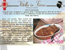 20 CORSE. Cpsm Cpm Recettes De Cuisine : Vitéllu In Fiànu - Non Classificati