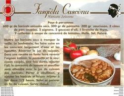 20 CORSE. Cpsm Cpm Recettes De Cuisine : Fasgiolu Casconu - Non Classificati