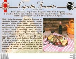 20 CORSE. Cpsm Cpm Recettes De Cuisine : Caprèttu Arrustitu - Non Classificati