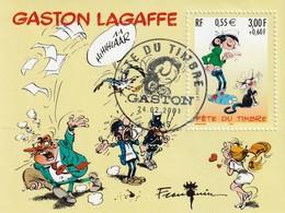 F34  **   Oblitération 1er Jour Fête Du Timbre    Gaston Lagaffe   Voir Description65/02 - Gebraucht