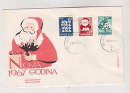 YUGOSLAVIA,1966 NEW YEAR  FDC Cover Beograd - Briefe U. Dokumente