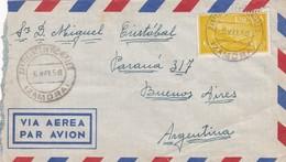 SANTIBANEZ DE VIDRIALES A BUENOS AIRES. SPAIN ENVELOPE, CIRCULATED TO ARGENTINA IN 1958. AIRMAIL -LILHU - 1951-60 Briefe U. Dokumente