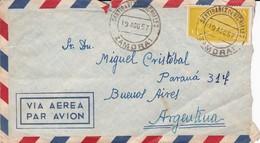 SANTIBANEZ DE VIDRIALES A BUENOS AIRES. SPAIN ENVELOPE, CIRCULATED TO ARGENTINA IN 1957. AIRMAIL -LILHU - 1951-60 Briefe U. Dokumente