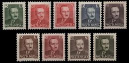 Polen 1950 - Mi-Nr. 547-555 ** - MNH - B. Bierut - 1944-.... Republic