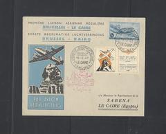 Eerste Regelmatige Luchtverbinding  Brussel - Kairo - Poste Aérienne