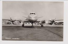 Vintage Rppc KLM K.L.M Royal Dutch Airlines Vickers Viscount @ Schiphol Airport - 1919-1938: Entre Guerres