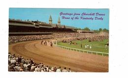 LOUISVILLE, Kentucky, USA, Churchill Downs, Home Of The Kentucky Derby, Old Chrome Postcard, Horse Racing - Louisville