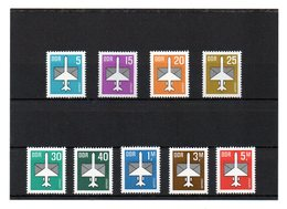 DDR, 1982-1987, Michel 2751/53, 2831/32, 2868, 2967, 3128/29, Postfrisch/**/MNH, Luftpost - Neufs