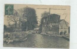 """Castelnaudary (11) : GP De La Barge Péniche Transport De Vins En Tonneaux """"Jeanne"""" De Toulouse à L'écluse 1910(animé)PF - Castelnaudary"""