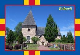 Aland Islands Eckero Church New Postcard Ålandinseln AK - Eglises Et Cathédrales
