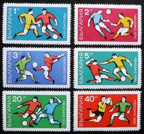 (dcbv-655)  Bulgaria  -  Bulgarie  -  Bulgarije     Michel 1982-87   Yvert  1761-66   MNH   1970 - Fußball-Weltmeisterschaft