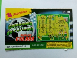 Billet De Loterie Instantanée, Campeões De Portugal. Portugal - Billets De Loterie