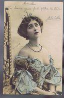 Artiste 1900- Lina Cavalieri  - Photo Reutlinger - Colorisée- Strass - Oper