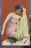 Artiste 1900- Lina Cavalieri  - Colorisée- Strass - Oper