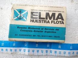 Argentina Argentine Merchant Marine ELMA Match Matches Box OLD #9 - Other