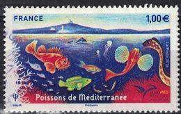 France 2016 Oblitéré Used Euromed Postal Poissons De Méditerranée Y&T 5077 SU - France