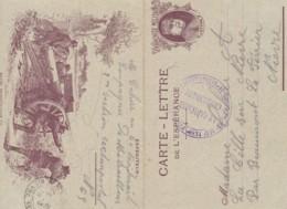 """Carte-Lettre De L'Espérance / Franchise Militaire """" JOFFRE """". - Franchise Militaire (timbres)"""