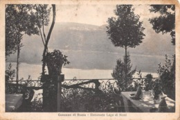 """7489 """"GENZANO DI ROMA-RISTORANTE LAGO DI NEMI""""-CART. POST. ORIG. SPED.1941 - Altre Città"""