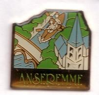 G330 Pin's Ville Village Anseremme Belgique Canoë Kayak église Achat Immédiat - Aviron