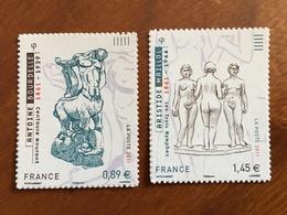 ADHESIFS DE FEUILLE - 2011 - SCULPTURES De BOURDELLE Et MAILLOL Y&T 633 Et 634 - 0,89 Et 1,45€ -Neufs ** - France