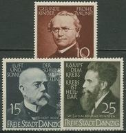 Danzig 1939 Ärzte Und Naturforscher: Mendel, Koch, Röntgen 306/08 Mit Falz - Dantzig
