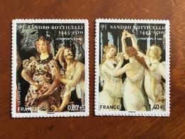 ADHESIFS DE FEUILLE - 2010 - SANDRO BOTTECELLI Y&T 492 Et 509 - 0,87 Et 1,45€ - Neufs ** - France