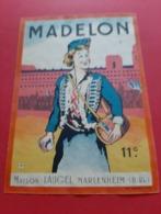 ETIQUETTE DECOLLEE ANCIENNE / MADELON 11° / MAISON LAUGEL MARLENHEIM ( B . Rh ) - Collections, Lots & Séries