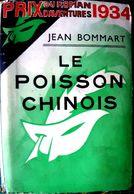 POLAR POLICIER LE MASQLE POISSON CHINOIS JEAN BOMMART   EDITION ORIGINALE AVEC JAQUETTE ILLUSTREE 1934 - Bücher, Zeitschriften, Comics