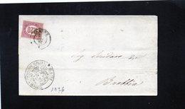 CG32 - Lettera Da Varese Per Brebbia 1876 - No Testo - Marcophilia