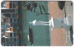 SINGAPORE B-828 Magnetic SingTel - Culture, Statue - 174SIGB - Used - Singapour
