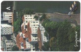 SINGAPORE B-852 Magnetic SingTel - Architecture, Historic Building - 162SIGC - Used - Singapour