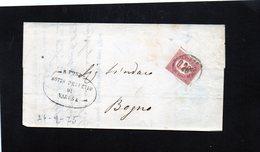 CG32 - Lettera Da Varese Per Bogno 26/9/1875 - Marcophilia