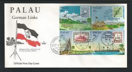 Palau 1985 German Links 4-block FDC Y.T. A 6/9 ** - Palau