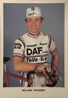 Postcard William Tackaert -  DAF Trucks - TeVe Blad - 1982 - Ciclismo