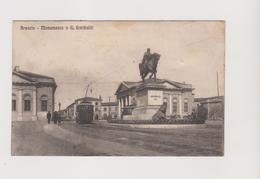 Brescia, Monumento A Garibaldi, Tram Elettrico  - F.p. - Anni '1910 - Brescia