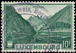 Luxembourg, Luxemburg 1935 Vianden 10Fr. Cachet Bourse Du Travail, Arbeitsnachweis, Michel:283 - Luxembourg